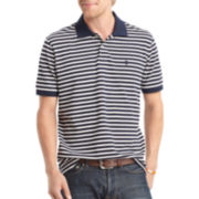 IZOD® Short-Sleeve Striped Piqué Polo