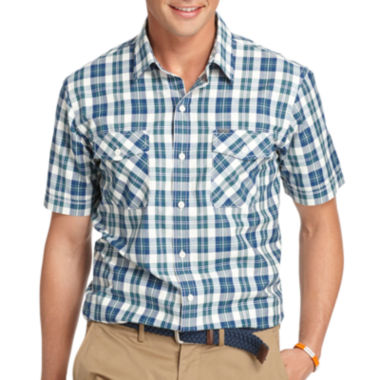 jcpenney.com | IZOD® Short-Sleeve Performance Poplin Shirt