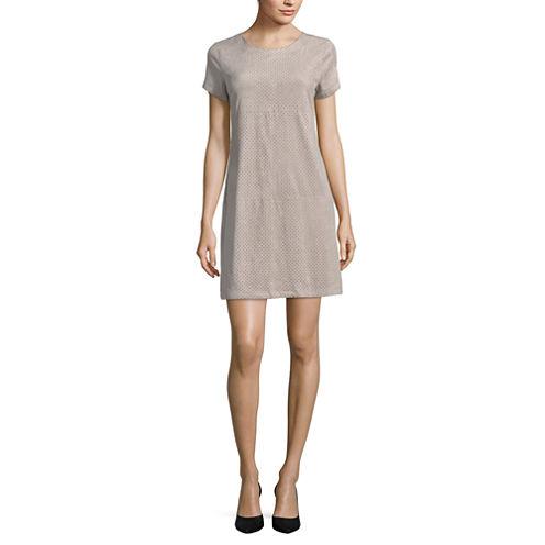 a.n.a Short Sleeve A-Line Dress