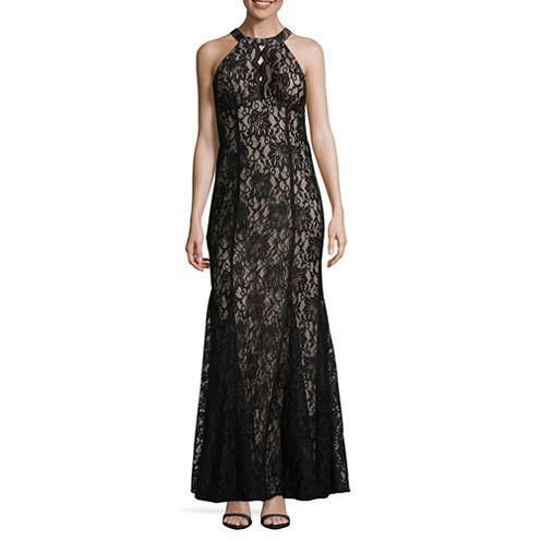 R & M Richards Sleeveless Evening Gown-Tall