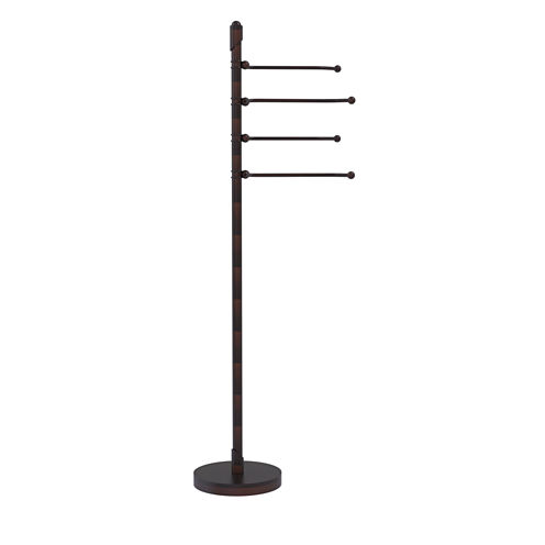 Allied Brass Soho Collection Free Standing Towel Stand wit 4 Pivoting Swing Arms