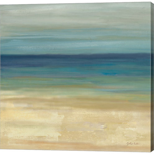 Navy Blue Horizons I Gallery Wrapped Canvas Wall Art On Deep Stretch Bars