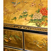 Oriental Furniture Gold Leaf Secretary Desk
