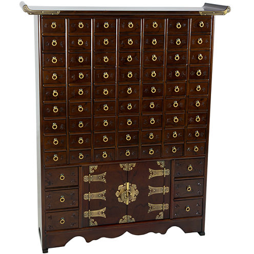 Oriental Furniture Korean Antique Apothecary Accent Chest