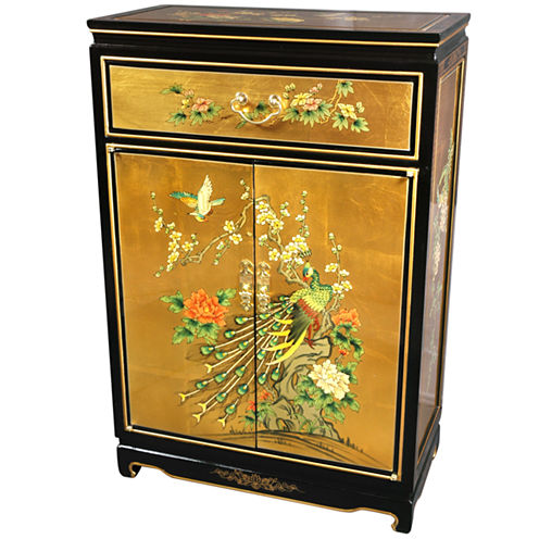 Oriental Furniture Hand-Crafted Accent Cabinet