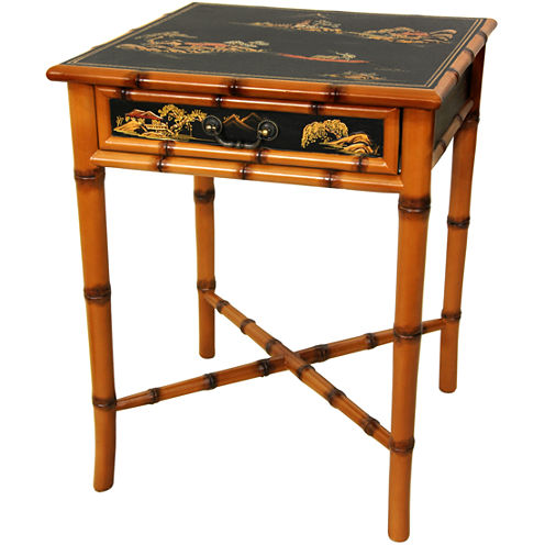 Oriental Furniture Ching 1-Drawer End Table