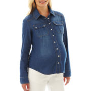 Maternity Chambray Shirt - Plus