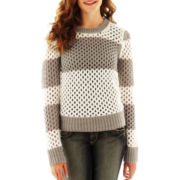 Arizona Mesh-Stitch Sweater