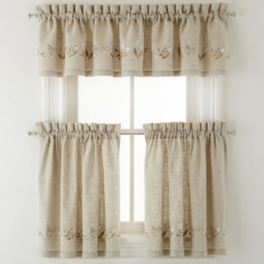 jcpenney.com | Lilly of the Valley Rod-Pocket Kitchen Curtains