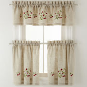 Bowl of Cherries Rod-Pocket Kitchen Curtains