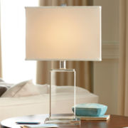 Royal Velvet® Crystal Block Table Lamp