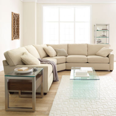jcpenney.com | Fabric Possibilities Sharkfin-Arm 3-pc. Loveseat Sectional