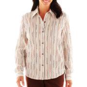 Alfred Dunner® Bryce Canyon Eyelash Striped Shirt
