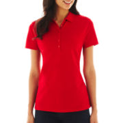 St. John's Bay® Short-Sleeve Polo - Petite