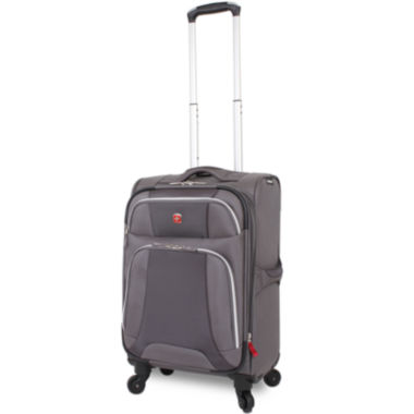 "jcpenney.com | Wenger® Monte Leone 20"" Expandable Spinner Upright Carry-On Luggage"
