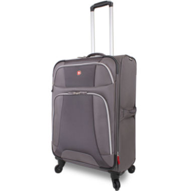 "jcpenney.com | Wenger® Monte Leone 25"" Expandable Spinner Upright Luggage"
