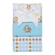3-pk. Flannel Receiving Blankets - Boys