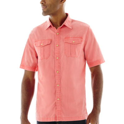 Mens Coral Short Sleeve Dress Shirt | Is Shirt