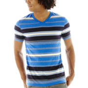 Arizona Multi-Striped V-Neck Tee