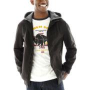Levi's® Hooded Soft-Shell Bomber Jacket