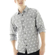 Ecko Unltd.® Long-Sleeve Star-Print Chambray Shirt