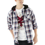 Ecko Unltd.® Hooded Flannel Shirt