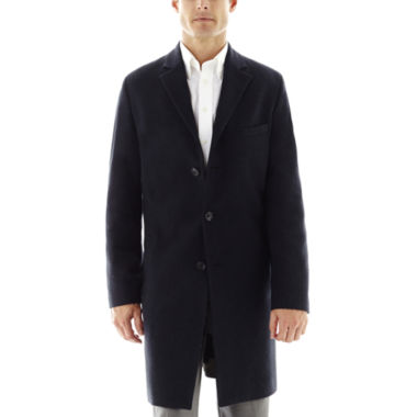 jcpenney.com | Stafford® Navy Herringbone Topcoat
