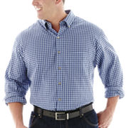 Van Heusen® Long-Sleeve No-Iron Gingham Shirt–Big & Tall