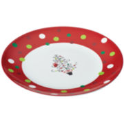 Rachael Ray® Hoot's Decorated Christmas Tree Platter