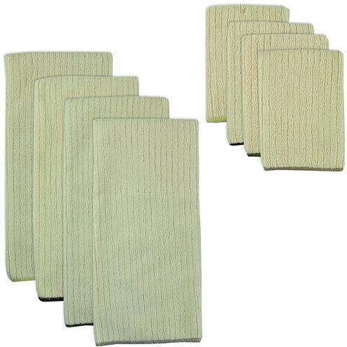 Natural Trim 8-pc. Dish Towel and Dishcloth Set