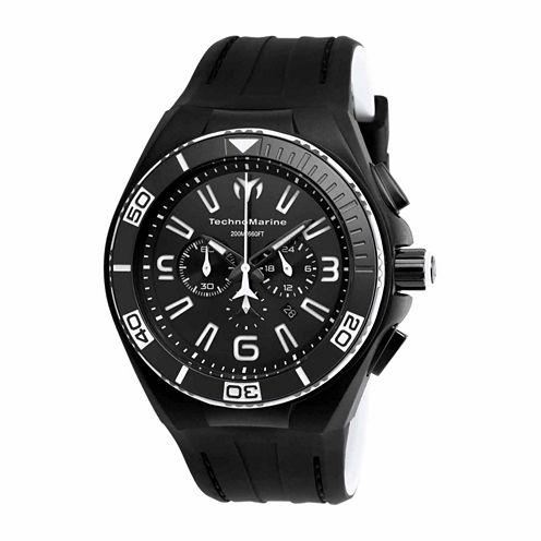 Techno Marine Mens Black Strap Watch-Tm-115056