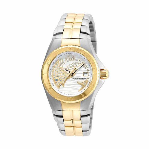 Techno Marine Womens Two Tone Bracelet Watch-Tm-115204