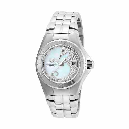 Techno Marine Womens Silver Tone Bracelet Watch-Tm-115286
