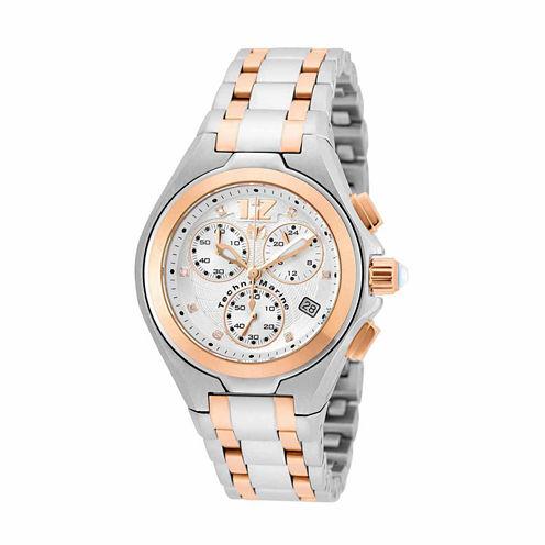 Techno Marine Womens Two Tone Bracelet Watch-Tm-215020