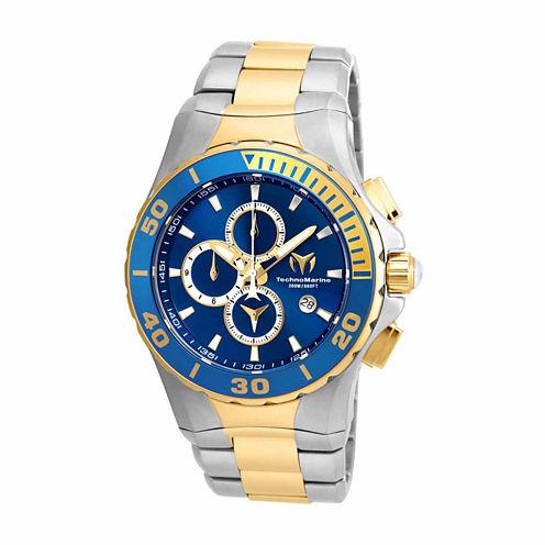 Techno Marine Mens Two Tone Bracelet Watch-Tm-215047