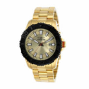 Invicta Mens Gold Tone Bracelet Watch-22408