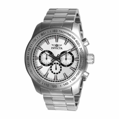 jcpenney.com | Invicta Mens Silver Tone Bracelet Watch-21794