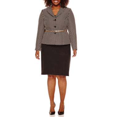 jcpenney.com | Isabella Long Sleeve Dot Skirt Suit Set-Plus