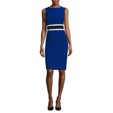 jcpenney.com | Black Label by Evan-Picone Sleeveless Contrast-Waist Sheath Dress