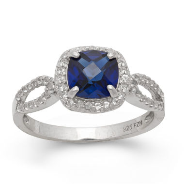 jcpenney.com | Lab Created Blue & White Sapphire Sterling Silver Ring
