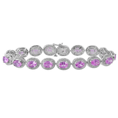 jcpenney.com | Lab Created Pink Sapphire & Diamond Accent Sterling Silver Bracelet
