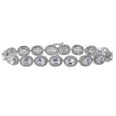 jcpenney.com | Lab Created White Sapphire & Diamond Accent Sterling Silver Bracelet