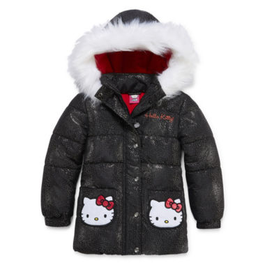 jcpenney.com | Hello Kitty Girls Hello Kitty Heavyweight Puffer Jacket-Preschool