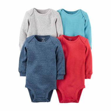 jcpenney.com | Carter's® 4-pk. Long-Sleeve Multicolor Bodysuits - Baby Girls newborn-24m
