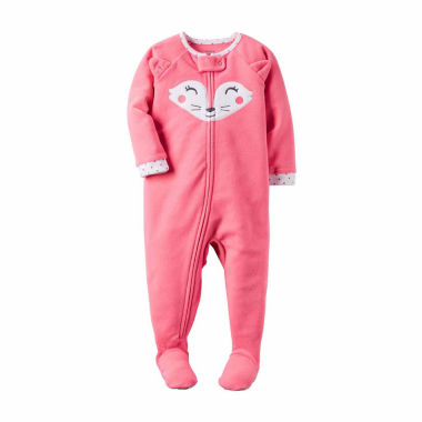 jcpenney.com | Carter's® Pink Fox Fleece Pajamas - Baby Girls newborn-24m