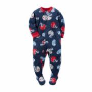 Carter's® Navy Football Fleece Pajamas - Toddler Boys 2t-5t
