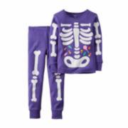 Carter's® 2-pc Halloween-Glow-in-the-Dark PJ Set - Baby Girls newborn-24m
