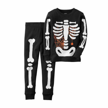 jcpenney.com | Carter's® 2-pc. Glow-in-the-Dark Skeleton Cotton Pajama Set - Toddler Boys 2t-5t
