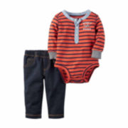 Carter's® 2-pc. Red Bodysuit Pants Set - Baby Boys newborn-24m