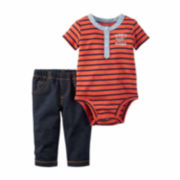Carter's® 2-pc. Stripe Bodysuit and Pants Set - Baby Boys newborn-24m
